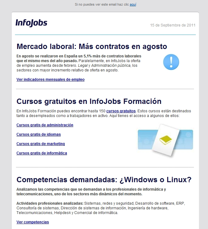 Mailing ejemplo Infojobs completo
